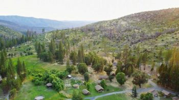 Aerial of camp