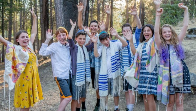 Teens celebrating Judaism