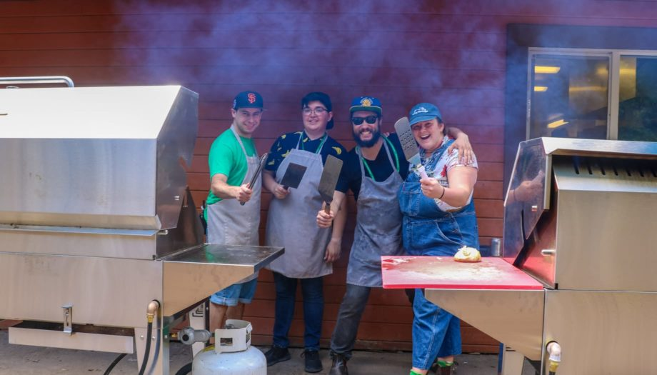 Chefs at family camp