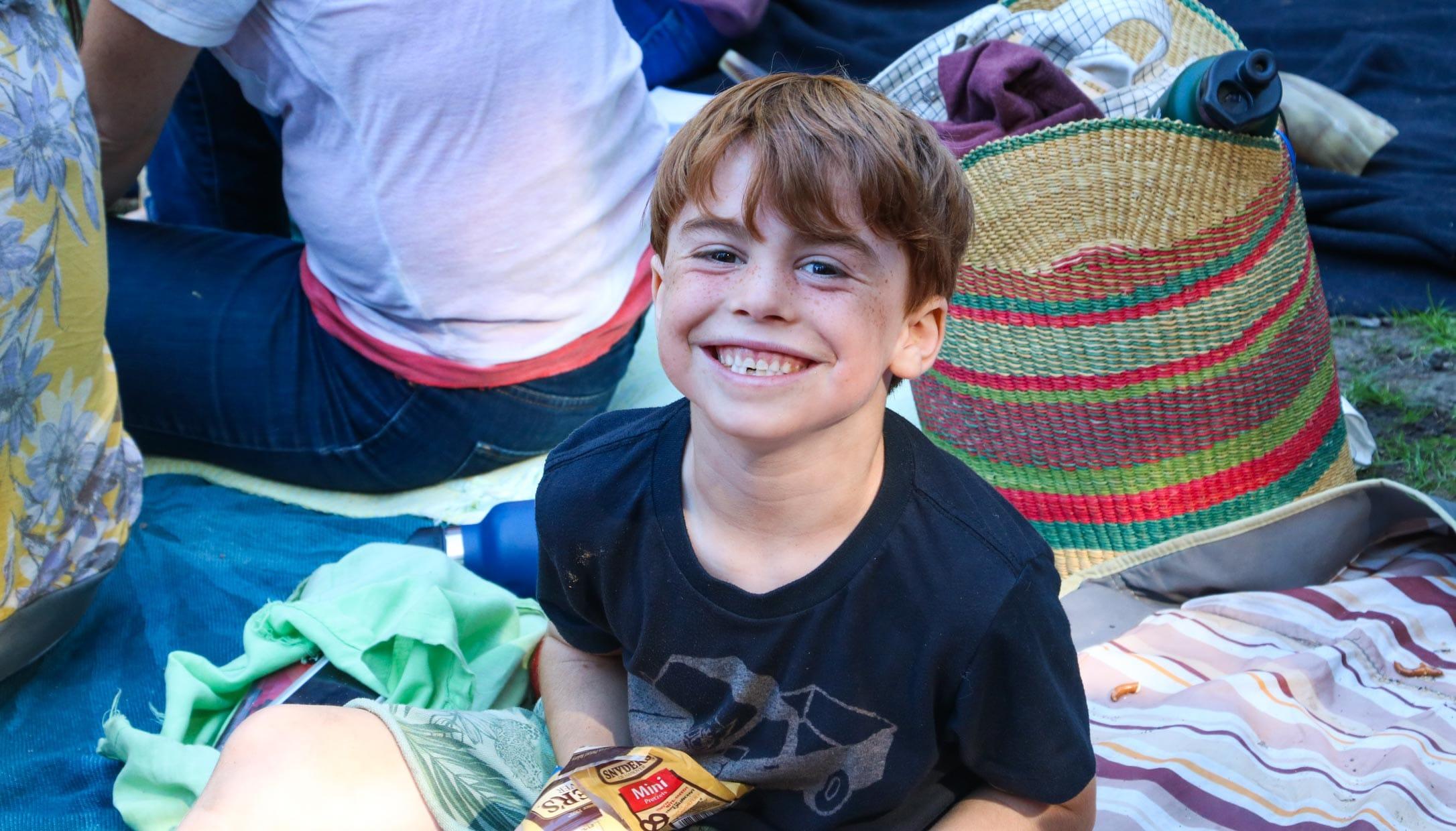 Boy attending a Erev Rosh Hashanah event