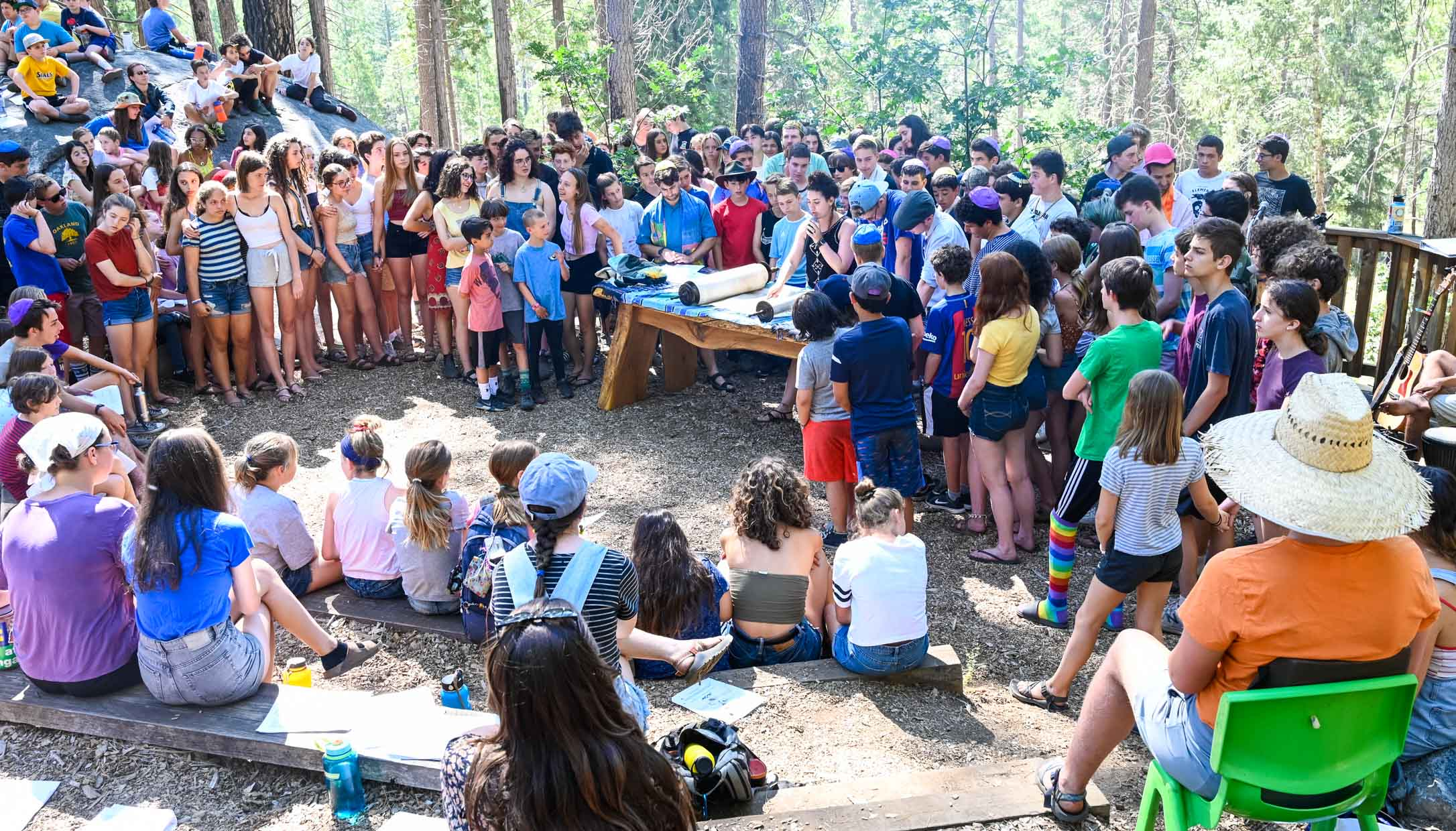 Jewish event at camp