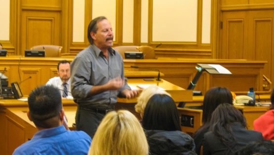Ken Kramarz during professional consulting at town hall