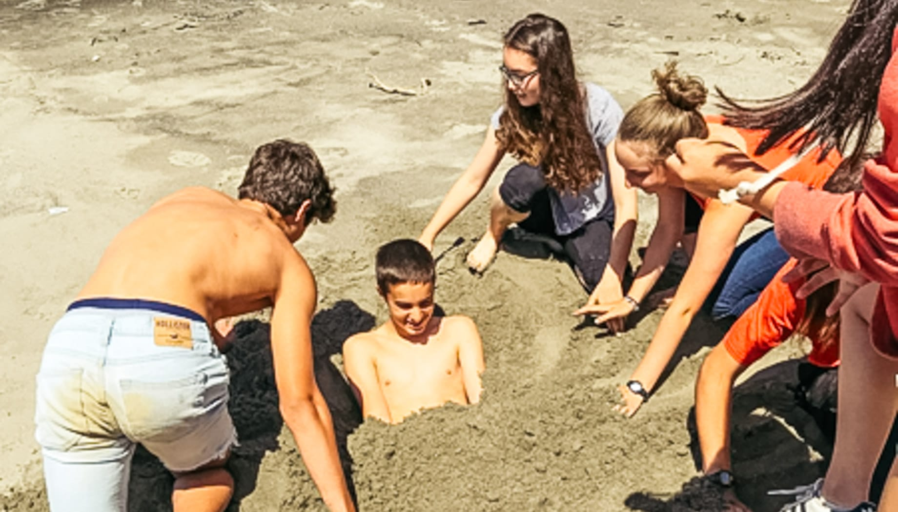 Fun at the beach on the Magical Mystery quest