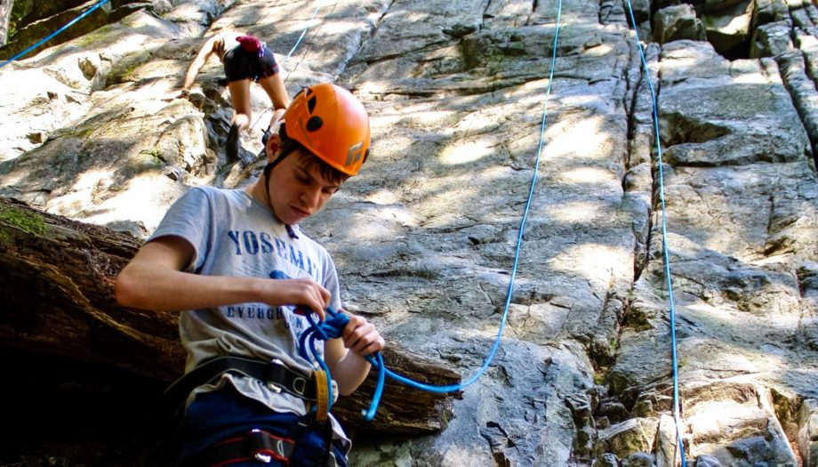 Rock climbing on the Northwest Canada quest