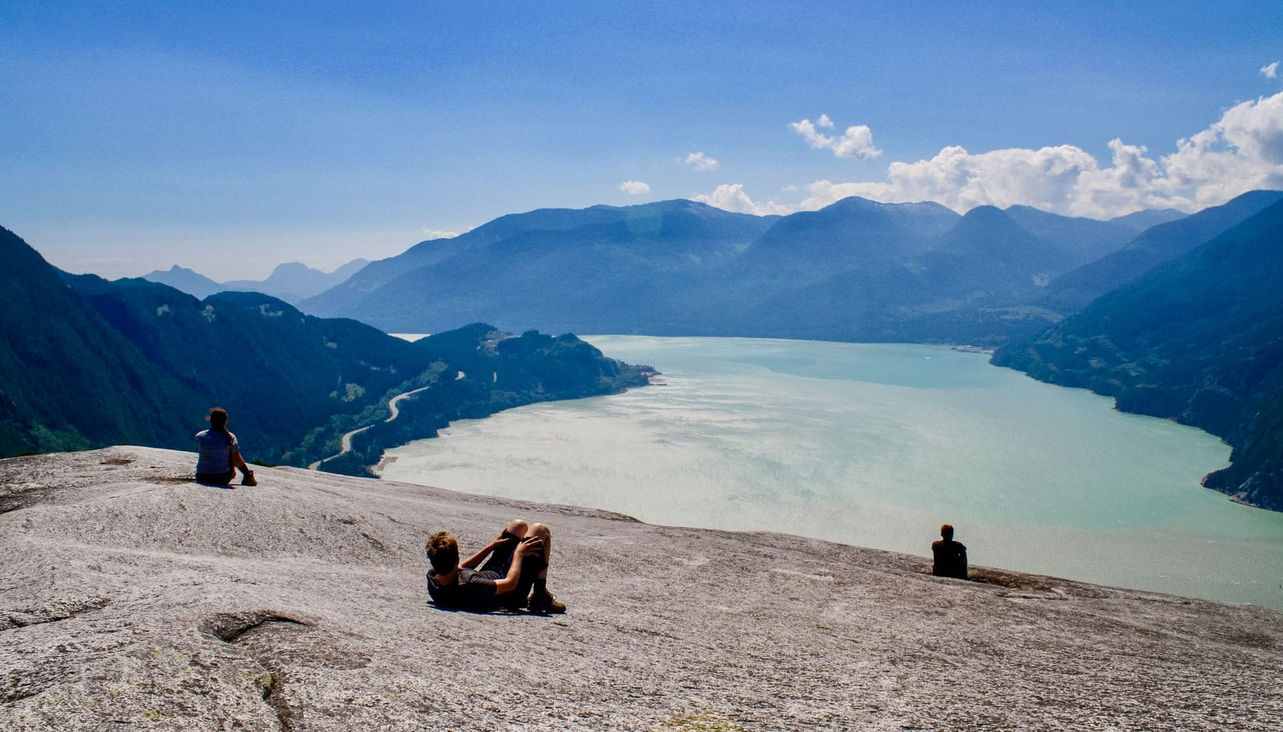 Hiking with scenic views on the Northwest Canada quest