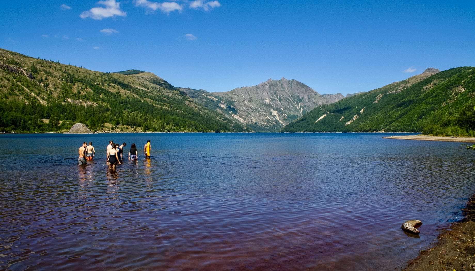 Swimming on the Northwest Canada quest