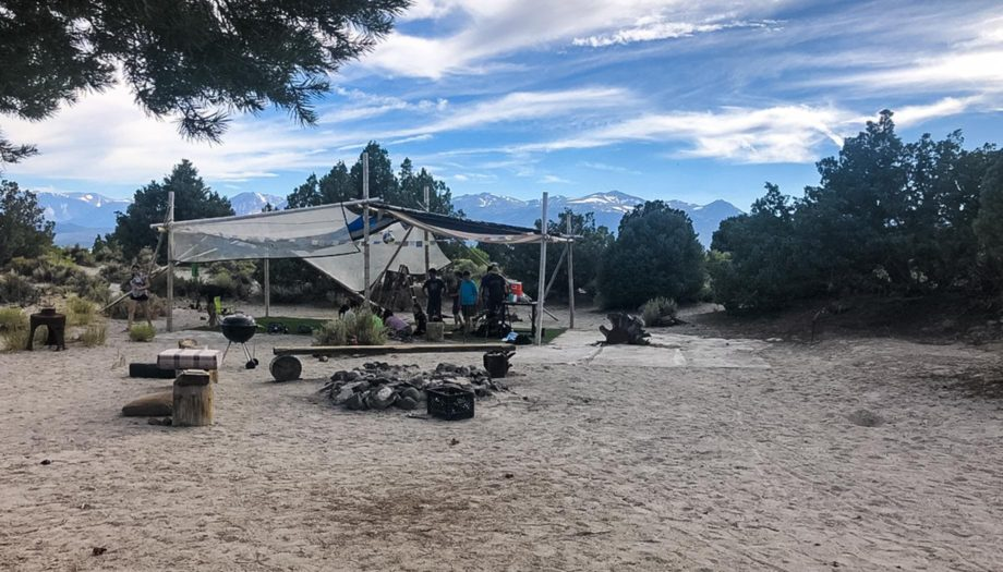 Camp set up on the Rock and River quest