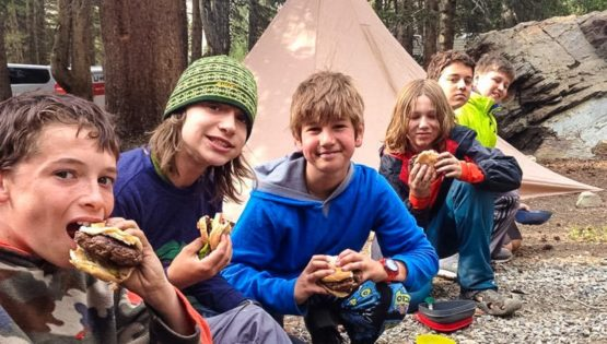 Eating burgers on the Sierra Slam quest