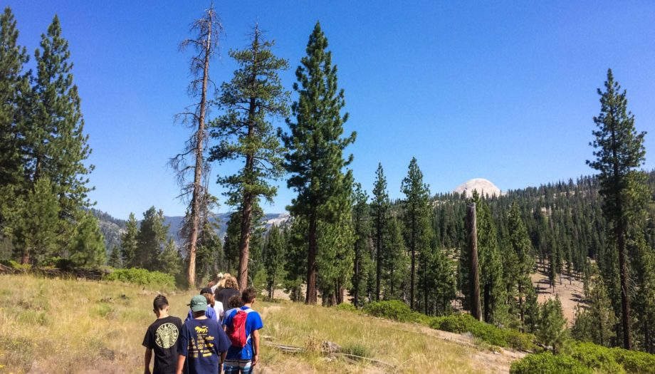 Hiking on the Sierra Slam quest