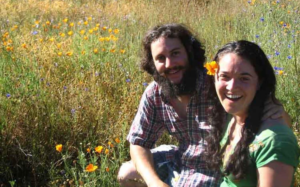 Joe and Jen Boxerman in a field