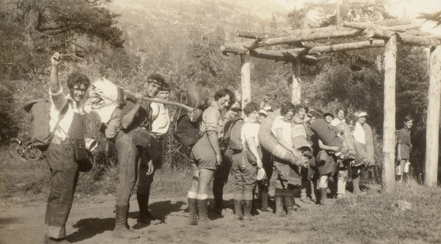 Old photo of Tawonga campers