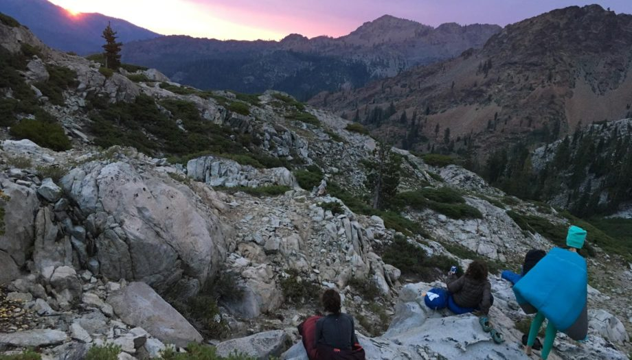Teens hiking on the Women of the Wild quest